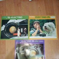 Cámara de fotos: LOTE DE 3 CATALOGOS YASHICA. TL-ELECTRO, ELECTRO 35 FC Y ELECTRO 35 GTN GSN. Lote 186317630
