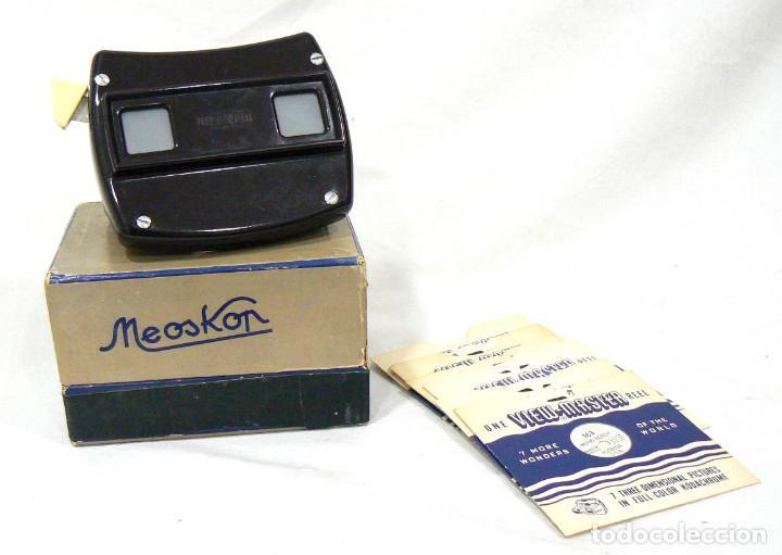 ANTIGUO VISOR VIEW-MASTER VIEWMASTER MEOPTA MEOSKOP + 6 DISCOS (Cámaras Fotográficas - Visores Estereoscópicos)