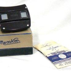 Cámara de fotos: ANTIGUO VISOR VIEW-MASTER VIEWMASTER MEOPTA MEOSKOP + 6 DISCOS. Lote 186349675