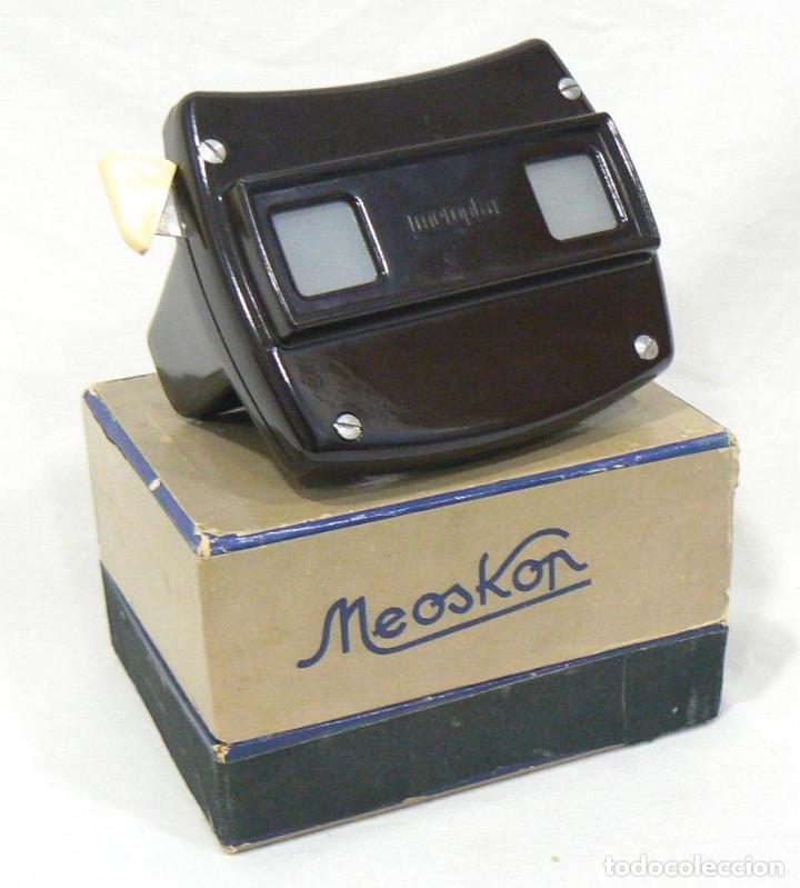 Cámara de fotos: Antiguo Visor VIEW-MASTER Viewmaster MEOPTA Meoskop + 6 discos - Foto 6 - 186349675