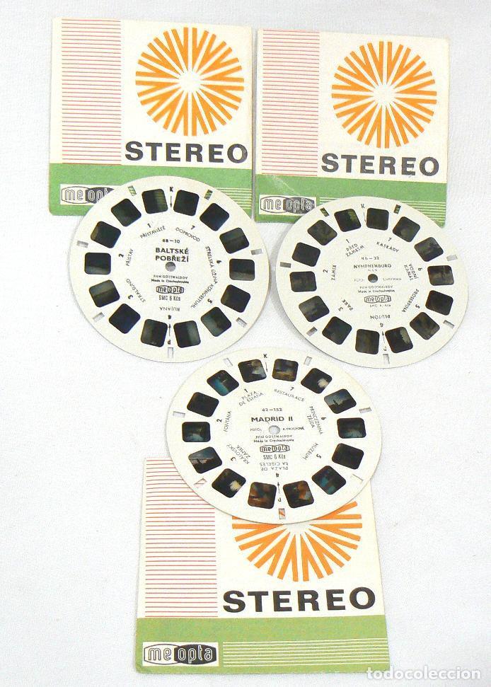 Cámara de fotos: Antiguos 3 discos View-Master Meopta Stereo - Foto 3 - 187167261