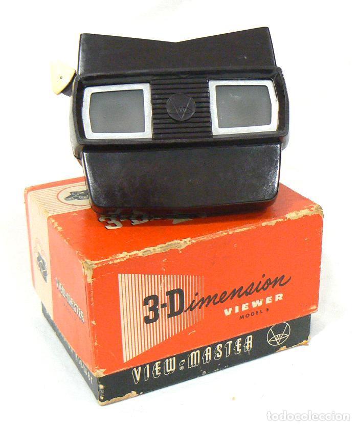 ANTIGUO VISOR VIEW-MASTER VIEWMASTER SAWYER´S MODEL E + 6 DISCOS MEOPTA (Cámaras Fotográficas - Visores Estereoscópicos)