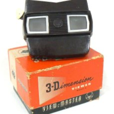 Cámara de fotos: ANTIGUO VISOR VIEW-MASTER VIEWMASTER SAWYER´S MODEL E + 6 DISCOS MEOPTA. Lote 187168766