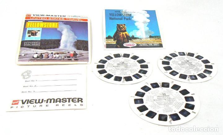 ANTIGUO SOBRE ORIGINAL CON TRES DISCOS VIEW-MASTER VIEWMASTER YELLOWSTONE NATIONAL PARK WYOMING (Cámaras Fotográficas - Visores Estereoscópicos)