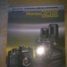Cámara de fotos: FOLLETO PUBLICIDAD DE MAMIYA ZE. Lote 188709910