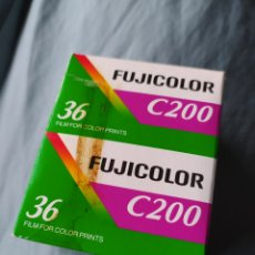 Cámara de fotos: DOS CARRETES FUJICOLOR C200 DE 36 MM.. Lote 208684550