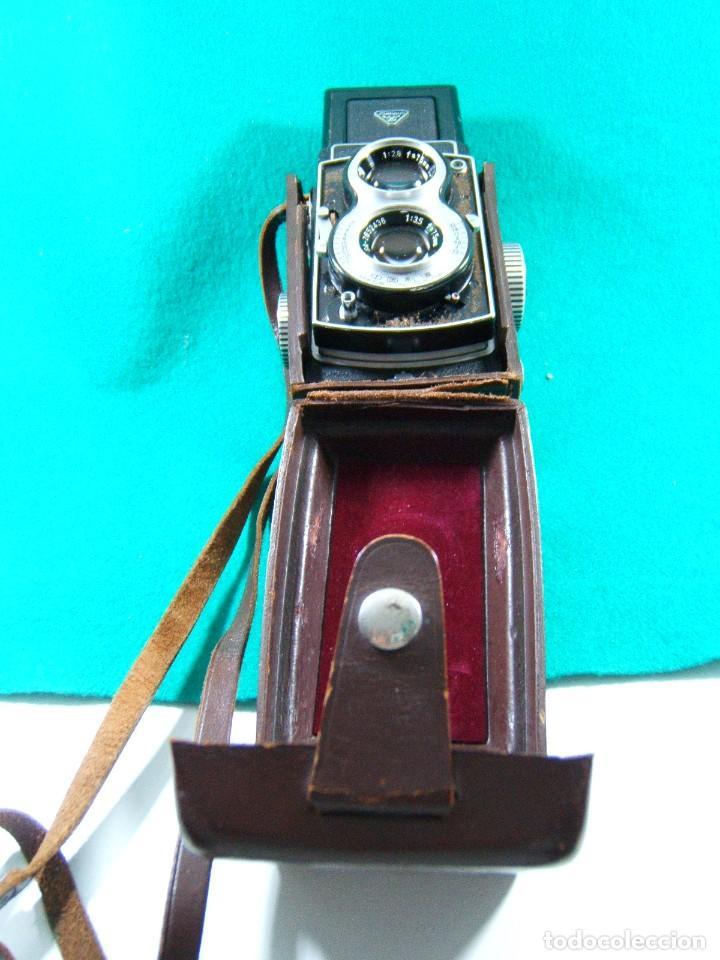 Cámara de fotos: SEAGULL-CAMARA FOTOGRAFICA TIPO ROLLEIFLEX-SHANGHAI-VERDADERA PRIMERA CALIDAD CHINA-RARA AÑOS 60/70. - Foto 2 - 189209103