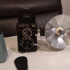Appareil photos: TLR RUSA.LUBITEL 166 UNIVERSAL CON FLASH NATIONAL Y BOMBILLA. Lote 190035707