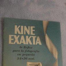 Cámara de fotos: ANTIGUO FOLLETO CATALOGO.CAMARA FOTOGRAFICA KINE EXACTA REFLEX 24 X 46. Lote 190482907