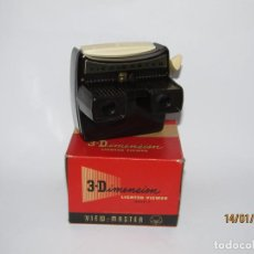 Cámara de fotos: ANTIGUO VISOR ESTEREOSCÓPICO 3-DIMENSIONES MODELO *F* CON LUZ DE VIEW MASTER. Lote 190939006