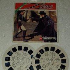 Cámara de fotos: 3 DISCOS ZORRO VIEW MASTER FRANCIA WALT DISNEY. Lote 191627276