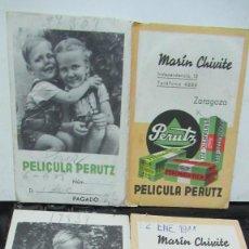 Cámara de fotos: + ZARAGOZA MARTIN CHIVITE PERUTZ DOS SOBRES PARA NEGATIVOS AÑO 1944. Lote 191703391