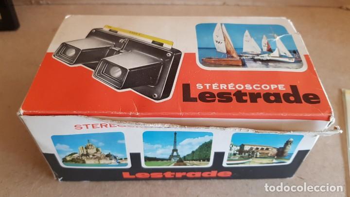 Cámara de fotos: STÉRÉOSCOPE LESTRADE / COMPLETO CON CAJA ORIGINAL / INSTRUCCIONES Y VISTAS. AÑOS 70 - Foto 5 - 191882377