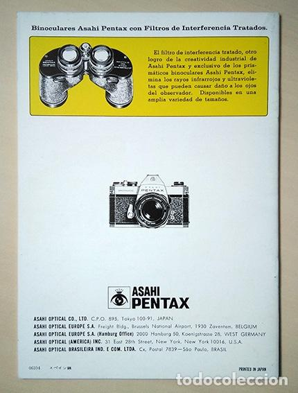 Cámara de fotos: Folleto Asahi Pentax Sistema Spotmatic 1970. Idioma español. 18 x 13 cm. 24 páginas. - Foto 2 - 192094123