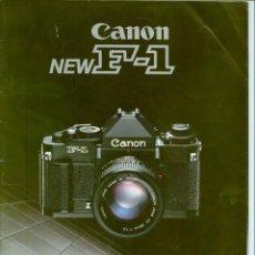 Cámara de fotos: MANUAL EQUIPAMIENTOS CANON F - 1. Lote 192849598