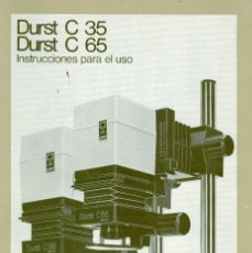 Cámara de fotos: MANUAL DE USO AMPLIADORAS DURST C35 Y C65. Lote 193054106