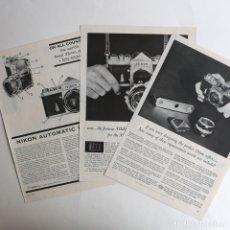 Cámara de fotos: CÁMARA NIKON F. - PUBLICIDAD. Lote 193378773
