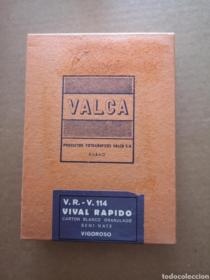 CAJA DE PAPEL FOTOGRÁFICO VALCA. V. R. - V. 114 VIVAL RÁPIDO (Cámaras Fotográficas - Otras)