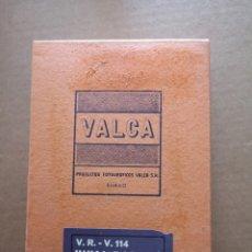 Cámara de fotos: CAJA DE PAPEL FOTOGRÁFICO VALCA. V. R. - V. 114 VIVAL RÁPIDO. Lote 193389716