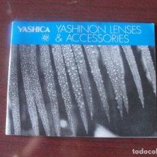 Cámara de fotos: CATALOGO YAHICA LENTES OPTICAS Y ACCESORIOS / LENSES - JAPON - SSIN USAR - ENVIO GRATIS. Lote 193646140