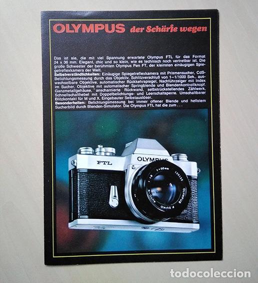 Cámara de fotos: Olympus der Schärfe wegen. Werbebroschüre. Olympus para la nitidez. 1970 - Foto 4 - 193989418