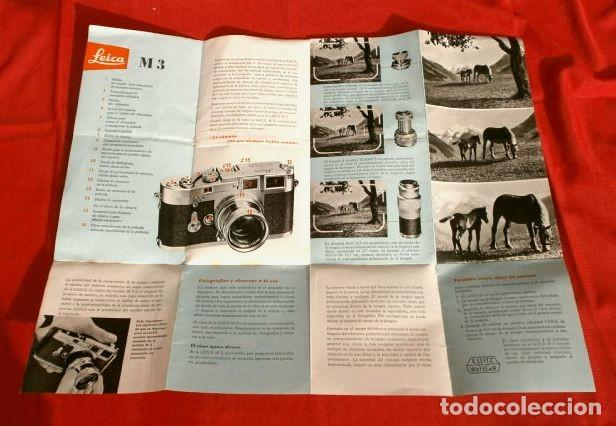 Cámara de fotos: LEICA M3 (AÑOS 50) CATALOGO FUNCIONAMIENTO DE LA CAMARA (EN ESPAÑOL) CASA PALAU ERNSTLEITZ GMBH - Foto 3 - 194011252