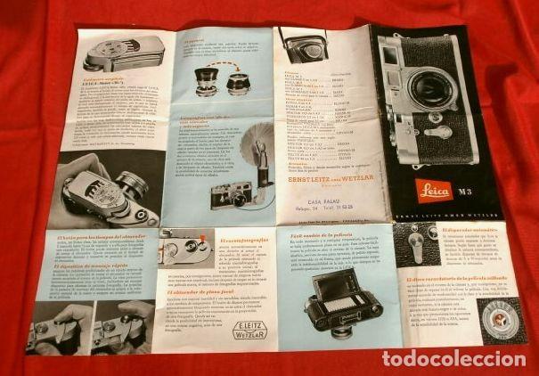 Cámara de fotos: LEICA M3 (AÑOS 50) CATALOGO FUNCIONAMIENTO DE LA CAMARA (EN ESPAÑOL) CASA PALAU ERNSTLEITZ GMBH - Foto 4 - 194011252