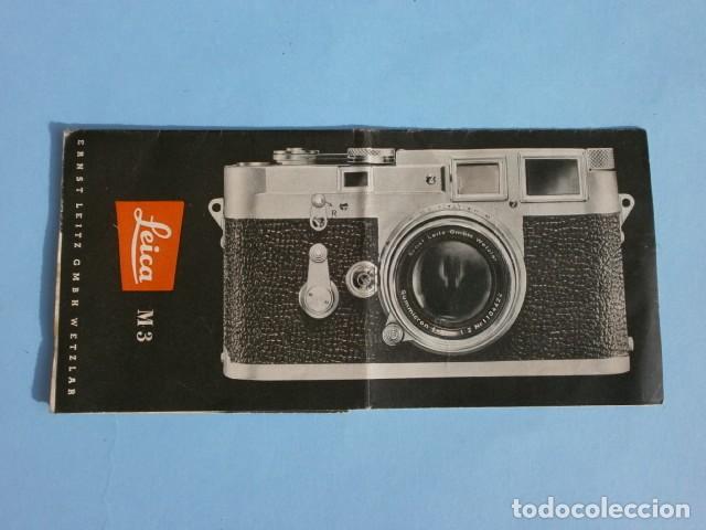 Cámara de fotos: LEICA M3 (AÑOS 50) CATALOGO FUNCIONAMIENTO DE LA CAMARA (EN ESPAÑOL) CASA PALAU ERNSTLEITZ GMBH - Foto 6 - 194011252