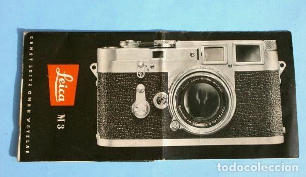 LEICA M3 (AÑOS 50) CATALOGO FUNCIONAMIENTO DE LA CAMARA (EN ESPAÑOL) CASA PALAU ERNSTLEITZ GMBH (Cámaras Fotográficas - Catálogos, Manuales y Publicidad)