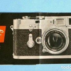 Cámara de fotos: LEICA M3 (AÑOS 50) CATALOGO FUNCIONAMIENTO DE LA CAMARA (EN ESPAÑOL) CASA PALAU ERNSTLEITZ GMBH. Lote 194011252