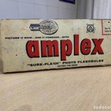 Cámara de fotos: CAJA CON 10 BOMBILLAS DE FLASH AMPLEX. Lote 194274652