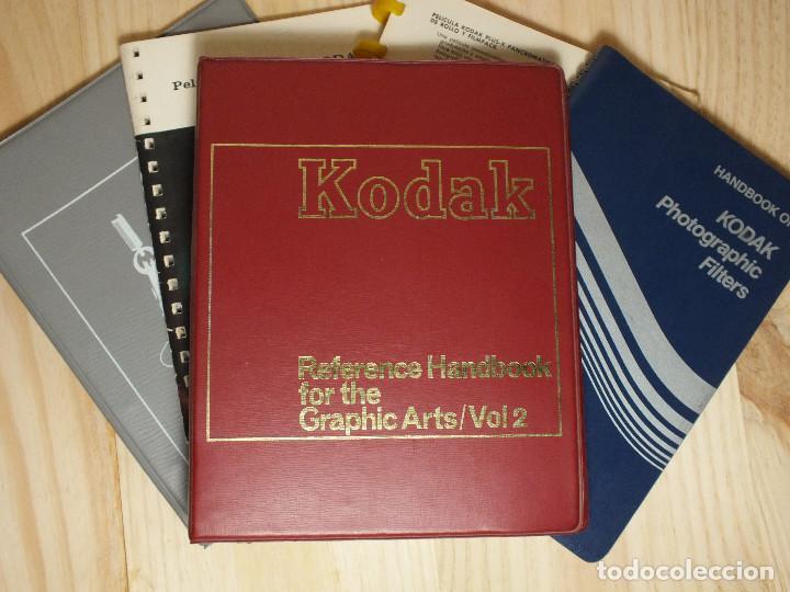 KODAK - CINCO MANUALES (Cámaras Fotográficas - Catálogos, Manuales y Publicidad)
