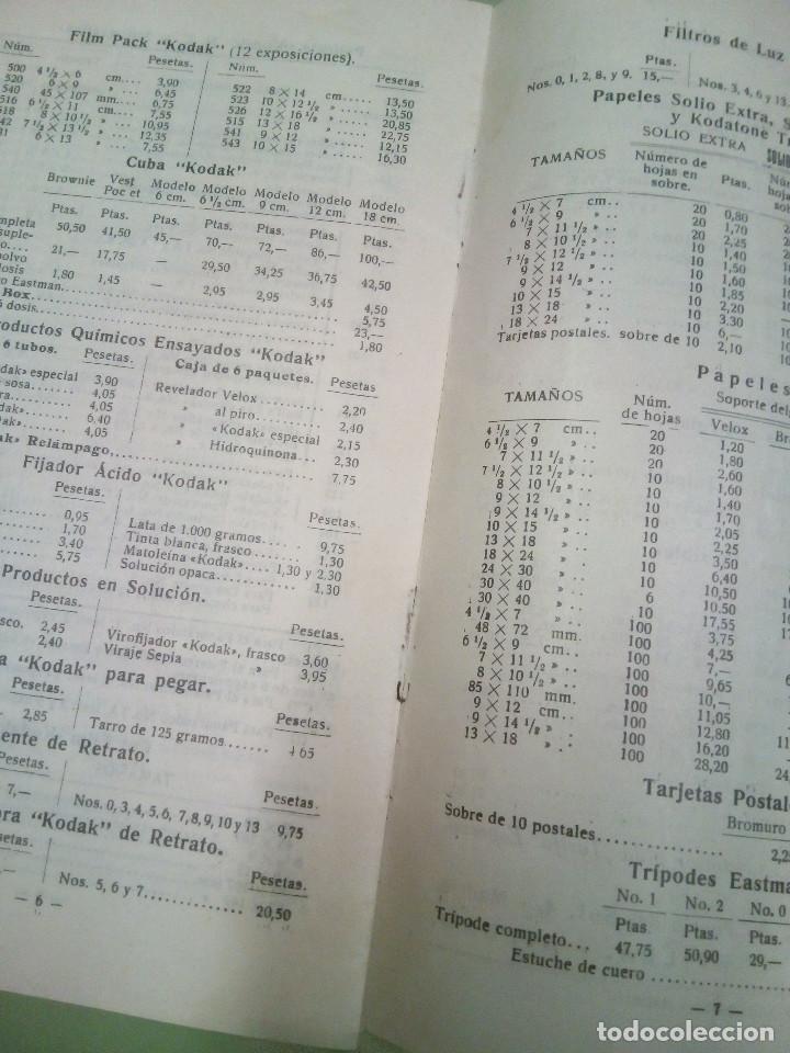 Cámara de fotos: Fasiculo tarifa de precio de los aparatos Kodak, Brownies y Halcon, 1931 - Foto 3 - 194496925