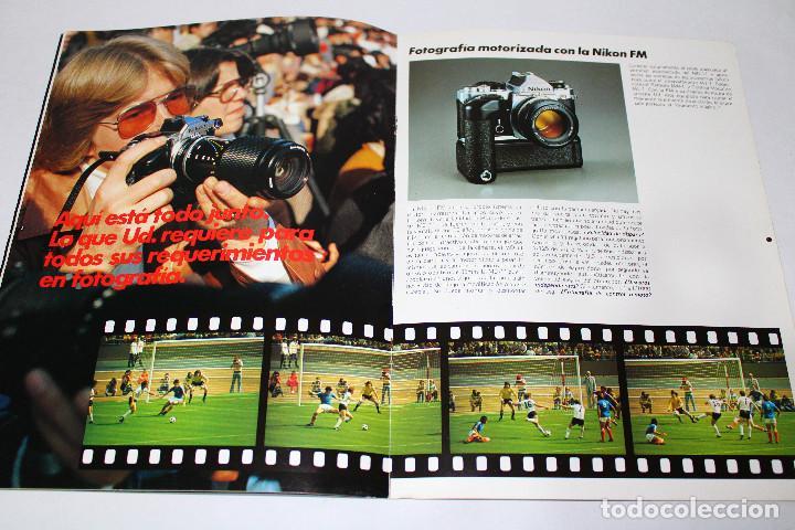 Cámara de fotos: CATÁLOGO CÁMARA NIKON FM - 80s. - 15 pág. - Foto 2 - 194709367