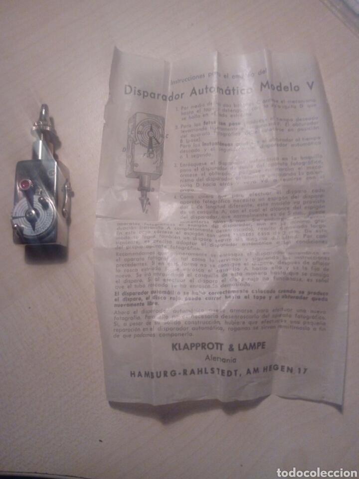 DISPARADOR PARA CÁMARA FOTOGRAFICA - GERMANY DE KLAPPROTT AND LAMPE HAMGURG CON HOJA D INSTRUCCIONE (Cámaras Fotográficas - Otras)