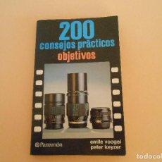 Cámara de fotos: 200 CONSEJOS PRÁCTICOS OBJETIVOS. EMILE VOOGEL / PETER KEYZER.. Lote 194967700