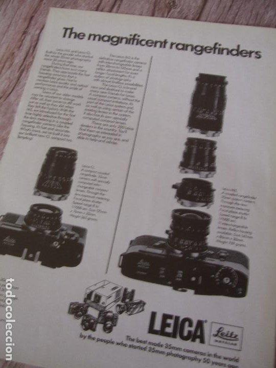 RECORTE ANUNCIO PUBLICITARIO LEICA (Cámaras Fotográficas - Catálogos, Manuales y Publicidad)