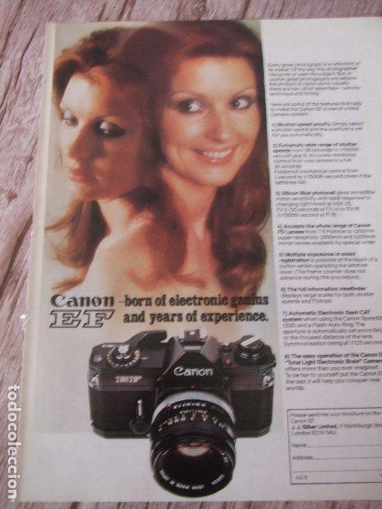 RECORTE ANUNCIO PUBLICITARIO CANON EF (Cámaras Fotográficas - Catálogos, Manuales y Publicidad)