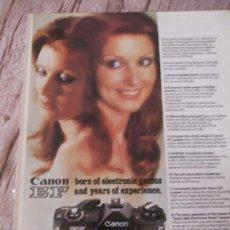 Cámara de fotos: RECORTE ANUNCIO PUBLICITARIO CANON EF. Lote 195170355