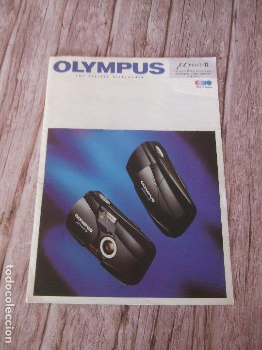 CATÁLOGO CÁMARA OLYMPUS MJU II (Cámaras Fotográficas - Catálogos, Manuales y Publicidad)