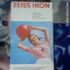 Cámara de fotos: ZEISS IKON CATALOGO CAMARAS PROYECTORES 27 PAG 21 X 11 CMS . Lote 195219360