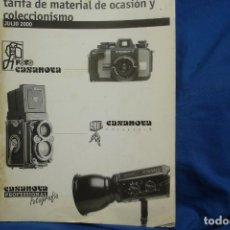 Cámara de fotos: TARIFA DE PRECIOS FOTOGRAFÍA Y CINE CASANOVA DEL AÑO 2000 . Lote 195332190