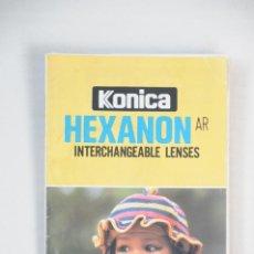 Cámara de fotos: CATALOGO DESPLEGABLE CÁMARAS KONICA REFLEX AÑOS 80. Lote 195490960