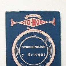 Cámara de fotos: COLECCIÓN FOTO NORMA: ARMONIZACION Y RETOQUE. JOSE Mª FERNANDEZ PLATERO. EDITORIAL BIBLIS. AÑOS 50. . Lote 195518596