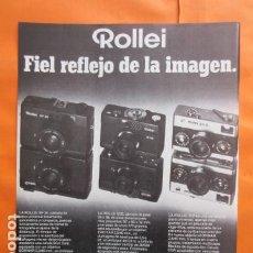 Cámara de fotos: PUBLICIDAD 1977 - COLECCION CAMARAS - ROLLEI XF 35 B 35 35 S. Lote 196338611