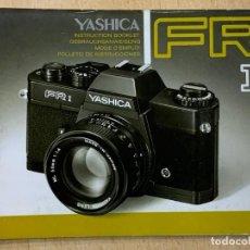 Cámara de fotos: MANUAL DE INSTRUCCIONES YASHICA FR I. Lote 196420615