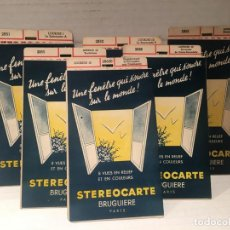 Cámara de fotos: LOTE DE 6 CARTONES VISOR STEREOSCOPICO STEREOCARTE BRUGUIERE LOURDES. Lote 196538275