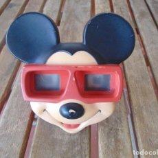 Cámara de fotos: VISOR ESTEREOSCOPIO 3D VIEW MASTER -MICKEY MOUSE DISNEY CON UNA PELICULA. Lote 196608673