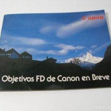 Cámara de fotos: OBJETIVOS FD DE CANON . CANON FD. Lote 197252746