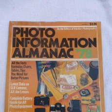 Cámara de fotos: PHOTO INFORMATION ALMANAC 78......EN INGLES.. Lote 197320120